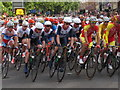 TQ2779 : Olympics men's cycling road race, Brompton Road (2) by David Hawgood
