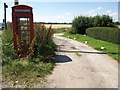 ST9717 : Overgrown phone box at Woodcutts by David Gearing