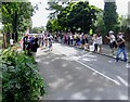 TQ2175 : The Olympics come to SW15: the Men's Cycling Road Race in Priory Lane by Stefan Czapski