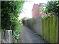 SJ7661 : Urban footpath through the Parkhouse estate by Stephen Craven