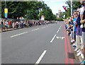 TQ2175 : Waiting for the Olympic road race, Barnes Common by Stefan Czapski