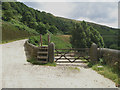 SE0509 : Gate at Holme Bank Wood, Wessenden by John Slater
