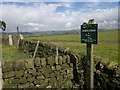 SJ9759 : Sign on bridleway from Fould to Gun by Chris Morgan