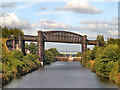 SJ6387 : Manchester Ship Canal, Latchford Viaduct and Locks by David Dixon