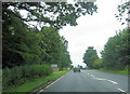 NY3960 : Road junction on A7 at Harker by John Firth