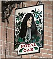 SJ8688 : Sign of the Royal Oak by Gerald England