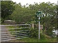 NG4148 : New footpath signs at Skeabost by Richard Dorrell