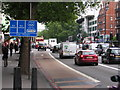 TQ2781 : Olympic Route Network: Games Lane, Marylebone Road by Christopher Hilton