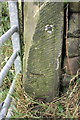 SE1040 : Benchmark on gatepost on Sty Lane by Roger Templeman