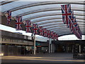 TQ2841 : Flags at Gatwick Airport by Colin Smith