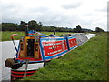 SJ9329 : Working Narrow Boat Hadar moored near Sandon, Trent &amp; Mersey canal by Keith Lodge