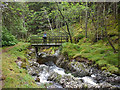 NN4069 : Footbridge over the Allt Loch na Lap by Karl and Ali