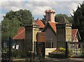 TQ2376 : Lodge and gateposts, Fulham Palace by Derek Harper