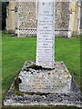 TL9361 : War memorial in the grounds of Hessett church by Helen Steed