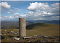 NN5081 : Looking east from the trig pillar on Geal Charn (Mullach Coire an Iubhair, 1049m) by Karl and Ali