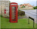 TF0857 : Kirkby Green - Lincoln postbox ref. LN4 34  by Alan Murray-Rust