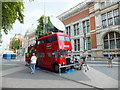 TQ2679 : Converted Double Decker Bus in Exhibition Road South Kensington by PAUL FARMER