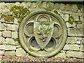 SK3054 : Stone Shield in the wall of Wigwell Grange by Rob Howl