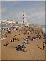 TQ3103 : Brighton Beach and Wheel by David Dixon