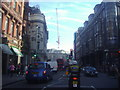 TQ2980 : Shaftesbury Avenue at the junction of Denman Street by David Howard