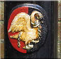 SU8586 : Swan emblem on Marlow lamp post by David Hawgood