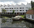 SU8586 : Marlow Mill pond and houses by David Hawgood
