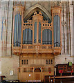 SO7745 : Organ in Great Malvern Priory by Julian P Guffogg