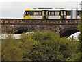 SD7807 : Metrolink Tram, Radcliffe Viaduct by David Dixon
