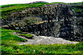 R0492 : Cliffs of Moher - SW Portion of Cliffs with Lookout Area at Edge of Cliffs by Joseph Mischyshyn