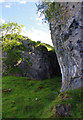 NM8946 : Limestone crag by Ian Taylor