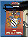 TQ3937 : The Sussex Arms inn sign by Robin Webster