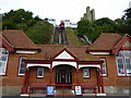 TR2235 : Leas Cliff Lift, Folkestone by pam fray