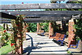 SZ6598 : Pergola and seating in Southsea Rose Garden by Barry Shimmon
