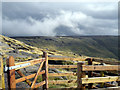 SK0888 : Kinder Scout summer showers by Stephen Burton