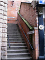 SJ8990 : Steps up to St Petersgate from the Underbanks by Robin Stott