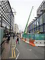 SP0786 : Corporation Street Birmingham, Closed For Construction of Tramway by Roy Hughes