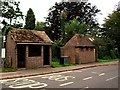 TQ3828 : Bus shelter and conveniences for ladies and gentlemen at Horsted Keynes by tristan forward