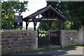 SD7243 : The Parish Church of St Helen, Waddington, Lychgate by Alexander P Kapp