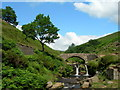 SK0068 : Packhorse Bridge, Three Shire Heads by John Topping
