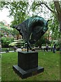 TQ2880 : Statue in Mount Street Gardens by Basher Eyre