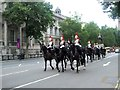 TQ3080 : Horse Guards passing through Whitehall by Paul Gillett