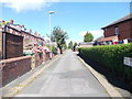 SE2930 : Back Grovehall Drive - Dewsbury Road by Betty Longbottom