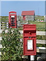 NF6704 : Cleit: postbox № HS9 2 and phone by Chris Downer