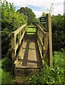 SY2496 : Bridge over ditch, Tritchmarsh by Derek Harper