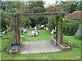 TQ1414 : Wiston Tea Rooms Garden by Josie Campbell