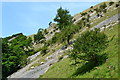 SK1357 : Limestone scree in Wolfscote Dale by Neil Theasby