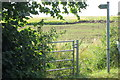 SP9538 : Gate onto overgrown path to the M1 by Philip Jeffrey