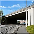 SJ9091 : Portwood Roundabout by Gerald England