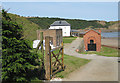 TA0684 : Pumping Station, Cayton Bay by Pauline Eccles