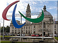 ST1876 : The Agitos Outside Cardiff City Hall by David Dixon